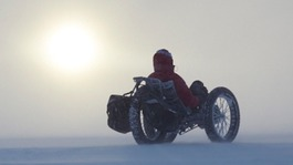 Welsh adventurer's world first cycle to the South Pole