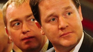 Lib Dem president Tim Farron pictured with leader Nick Clegg.