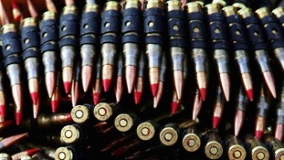 Hundreds of rounds of live and blank ammunition was also swiped from the MoD