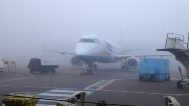 Delays at Southampton Airport due to foggy conditions