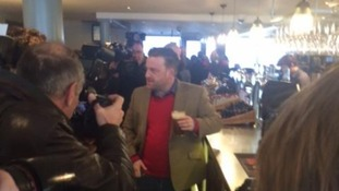 The first pint was served at the Hope and Champion this morning