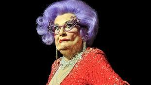 Dame Edna is saying goodbye