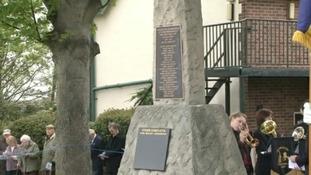 The memorial in Newbold