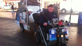 Former soldier's 20,000 mile charity scooter ride