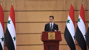Syria's President Bashar al-Assad speaks in Damascus June 20, 2011