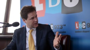 Nick Clegg holds a weekly phone-in show on LBC 97.3