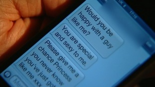 ITV News reconstruction showing text messages allegedly sent by Mike Hancock to the complainant
