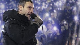 Opposition leader Vitaly Klitschko