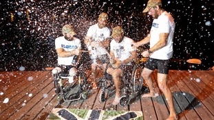Double amputee defies the odds to row across the Atlantic