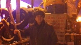Mick Antoniw barricade