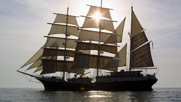 The 'Tenacious' vessel which will feature in the Avenue of Sail