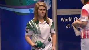 Katherine Rendall at the ladies' singles final