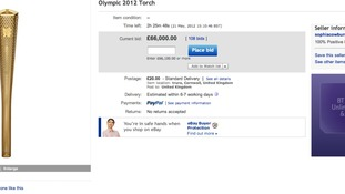 Torchbearer puts Olympic Torch up for sale on ebay