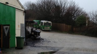 Three buses were set alight
