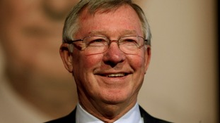 File photo of Sir Alex Ferguson smiling.