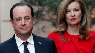 French President Francois Hollande and Valerie Trierweiler.