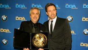 Alfonso Cuaron was presented with the Directors Guild of America award by Ben Affleck.