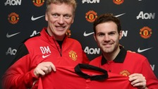 David Moyes and Juan Mata