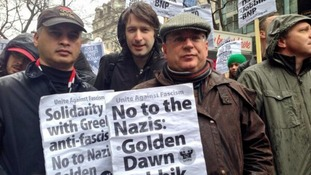 London Assembly members at anti-fascist protest.