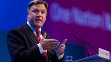 "Shadow chancellor Ed Balls has denied that Labour has an ""anti-business agenda"" after pledging to restore the 50p tax rate for high earners"