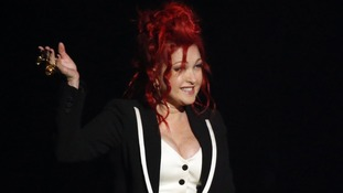 Cindi Lauper is hosting the first part of the Grammys.