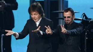 Paul McCartney and Ringo Starr, came together at the Grammy Awards.