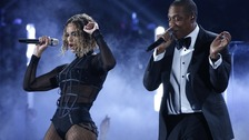 Beyonce and Jay Z opened the show.