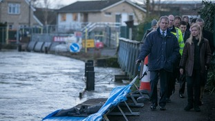 Environment Secretary Owen Paterson is due to visit flooded area today.