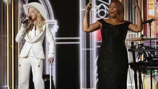 Queen Latifah officiated the nuptials, while Madonna joined on stage to perform 'Open Your Heart'.