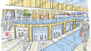 Artist impression of new plans to revamp Broadmarsh Centre