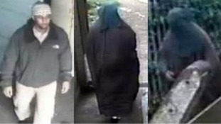 CCTV images of Mohammed Ahmed Mohamed wearing a burqa.