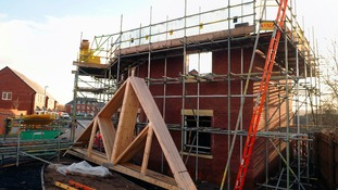 scaffold on house