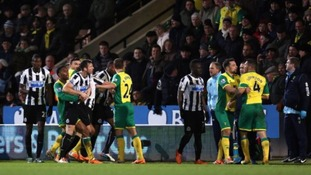 Tempers flared at Carrow Road.