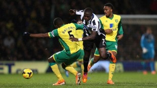 Norwich City were outplayed against Newcastle United.