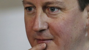 Close up of Prime Minister David Cameron.