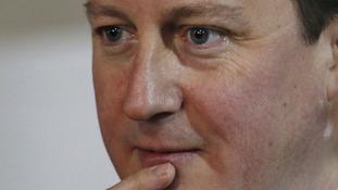 Close up of Prime Minister David Cameron.