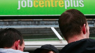 people outside job centre