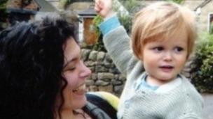 Murdered: Proud mother Rachael Slack and her son Auden