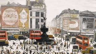 Lowry's 'Piccadilly Circus'.