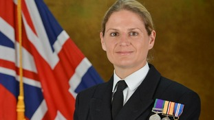 Commander Sarah West, 40, has been selected to command HMS Portland.