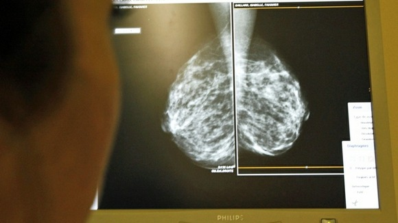 HRT therapy could have increased breast cancer chances, while above a doctor performs checks to find the disease