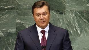 Ukraine president Viktor Yanukovych.