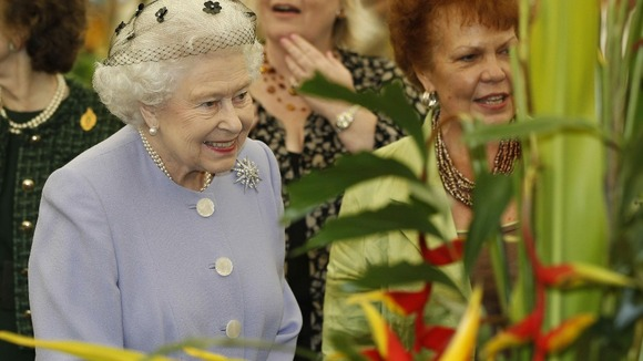The Queen visited the Chelsea Flower Show in London as part of her Diamond Jubilee celebrations