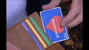 Donor card, organ donation, presumed consent