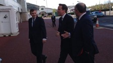 David Jones and Andrew RT Davies with the Prime Minister in April 2013