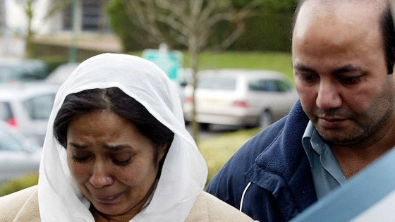 Ifitkhar (R) and Farzana Ahmed, parents of 17-year-old Shafilea Ahmed pictured in 2004