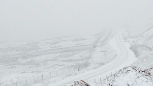 Snow on the High Pennines Friday
