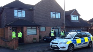 Police cordon outside house in North Shoebury