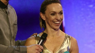 TV presenter Michaela Strachan has been voted out of Splash!
