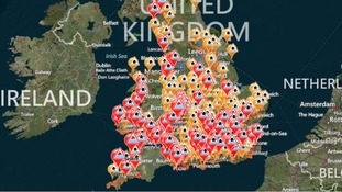 There are 5 severe flood warnings and nearly 150 flood warnings across England and Wales.